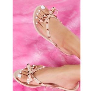 udded Sister Flat Sandal - Blush size 5